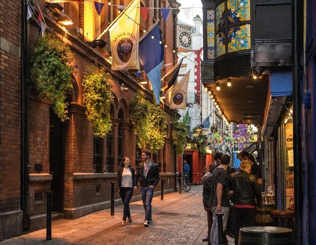 Typische Irish Pubs in Temple Bar