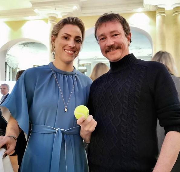 Derk Hoberg und Angelique Kerber