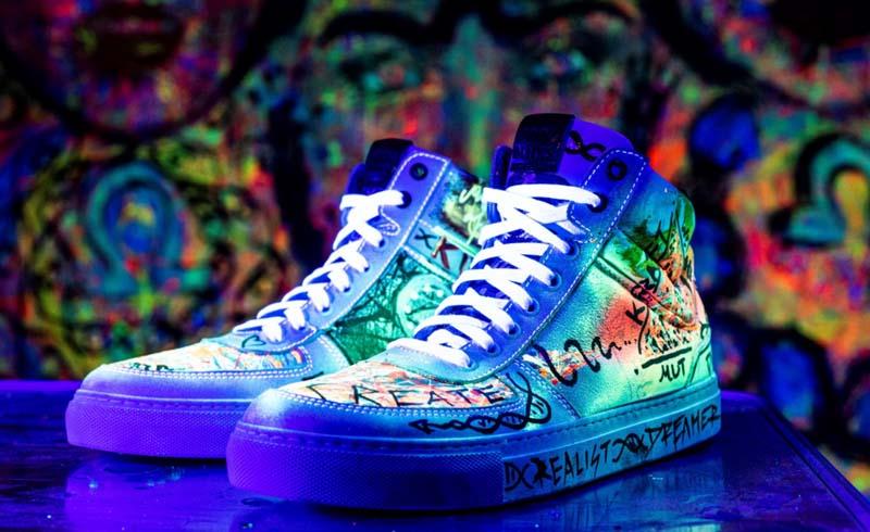Unikat: Von Noco Nikolaidis gestaltete BLNKS Sneaker