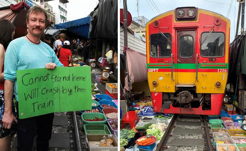 Derk Hoberg auf dem Risky Market in Maklong